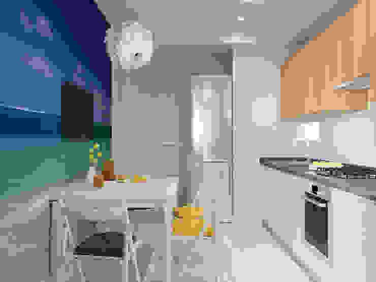 Квартира однокомнатная для аренды Кухни в эклектичном стиле от Оксана Мухина Эклектичный