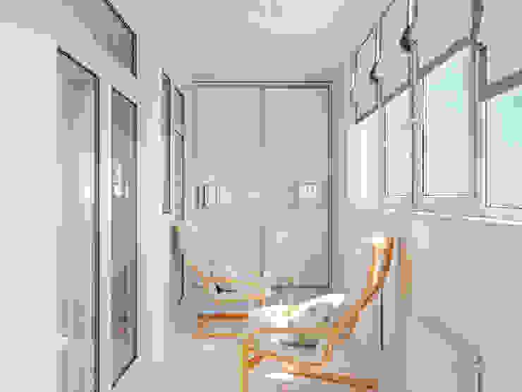Квартира однокомнатная для аренды Балконы и веранды в эклектичном стиле от Оксана Мухина Эклектичный
