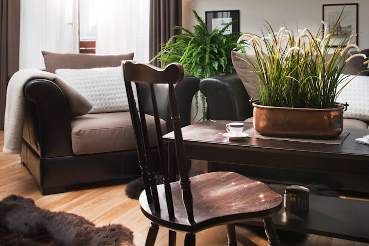 Mieszkanie na poddaszu Nowoczesny salon od ARTEMA PRACOWANIA ARCHITEKTURY WNĘTRZ Nowoczesny