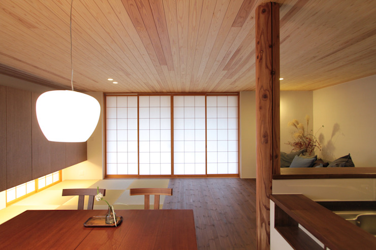 Scandinavian style dining room by haws建築設計事務所 Scandinavian Wood Wood effect
