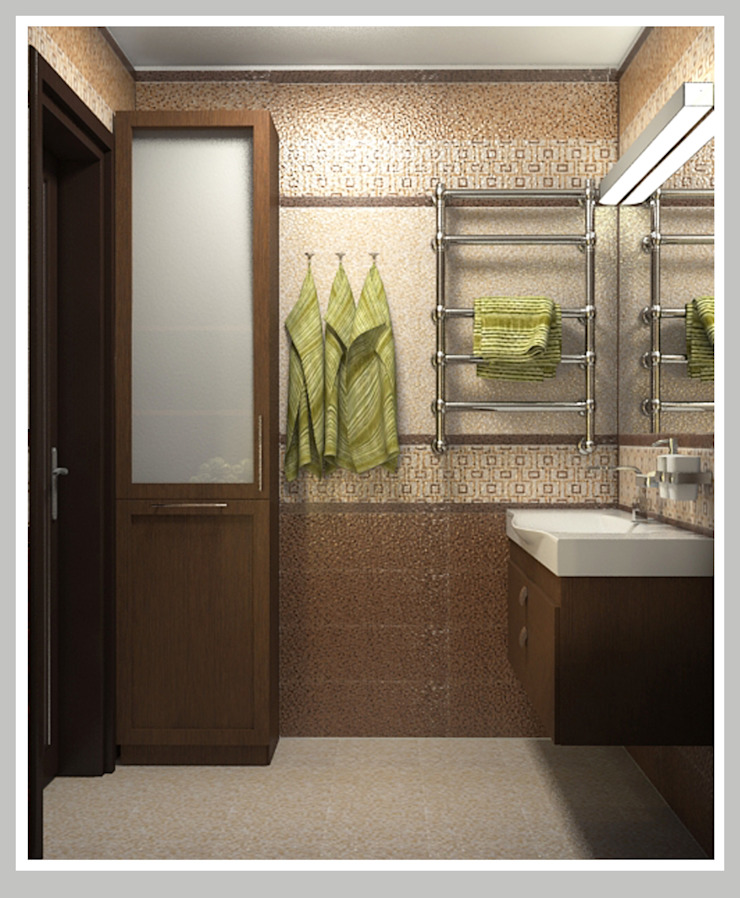 Ванная комната Вид 2 Ванная в азиатском стиле от Рязанова Галина Азиатский