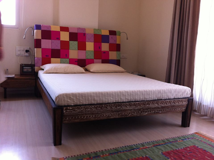 unique bed Asian style bedroom by uttara and adwait furniture Asian
