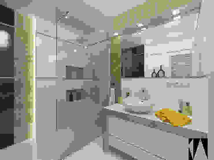 Złota łazienka Nowoczesna łazienka od Katarzyna Wnęk Nowoczesny