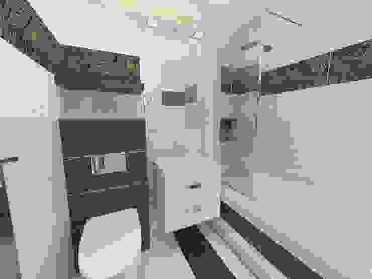 Beżowo-brązowa Nowoczesna łazienka od Katarzyna Wnęk Nowoczesny