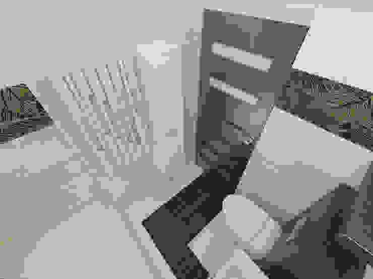 Beżowo- brązowa Nowoczesna łazienka od Katarzyna Wnęk Nowoczesny