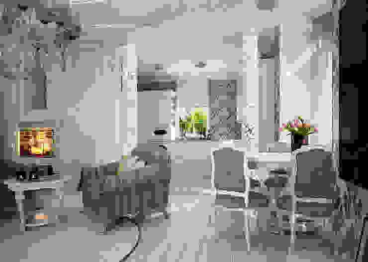 Проект 2х этажного коттеджа в стиле современная классика Столовая комната в классическом стиле от Инна Михайская Классический