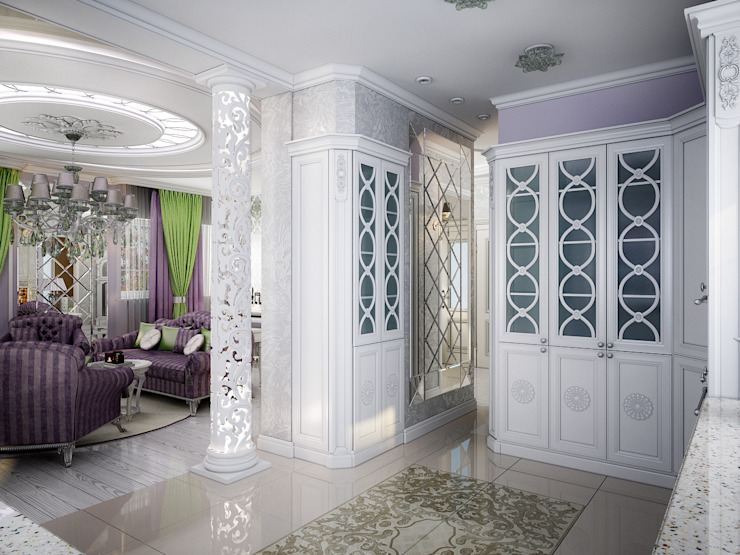 Проект 2х этажного коттеджа в стиле современная классика Кухня в классическом стиле от Инна Михайская Классический