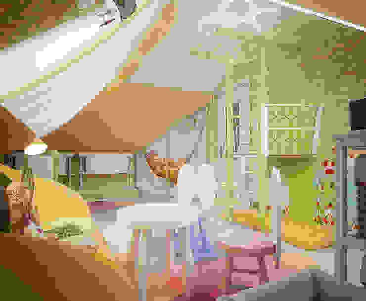 Проект 2х этажного коттеджа в стиле современная классика Детская комнатa в классическом стиле от Инна Михайская Классический