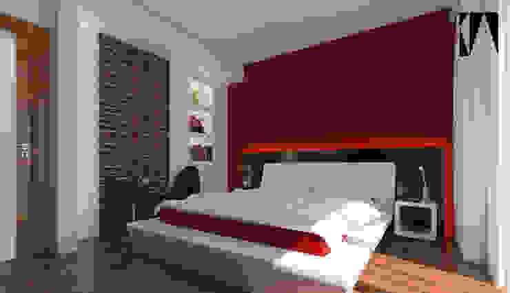 Habitaciones modernas de Katarzyna Wnęk Moderno