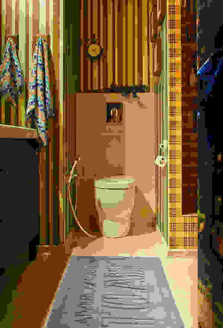 Реконструкция интерьера для семьи с маленькими детьми, 2014-15 гг. Ванная комната в стиле модерн от Бюро Акимова и Топорова Модерн
