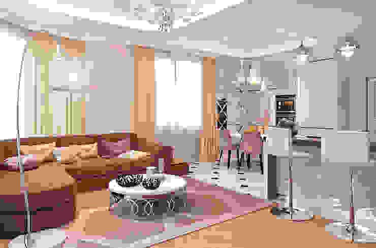 ЖК Велл Хаус (Well House), 163 м²: Гостиная в . Автор – Bronx, Эклектичный