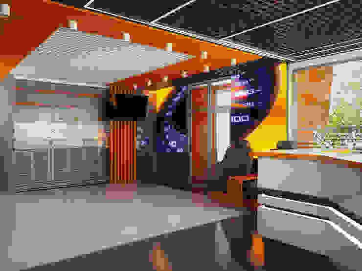 Salas multimedia modernas de Инна Михайская Moderno