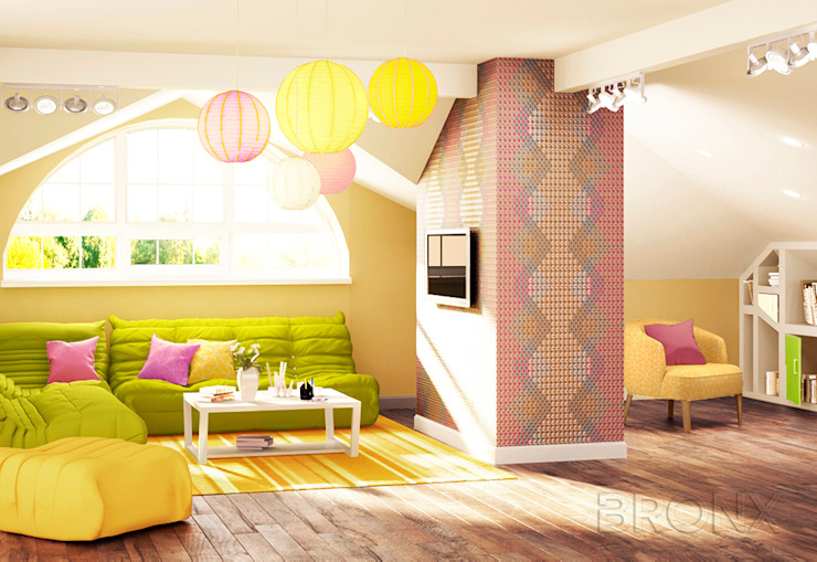 Мансарда Лешково, 109 м² Детские комната в эклектичном стиле от Bronx Эклектичный
