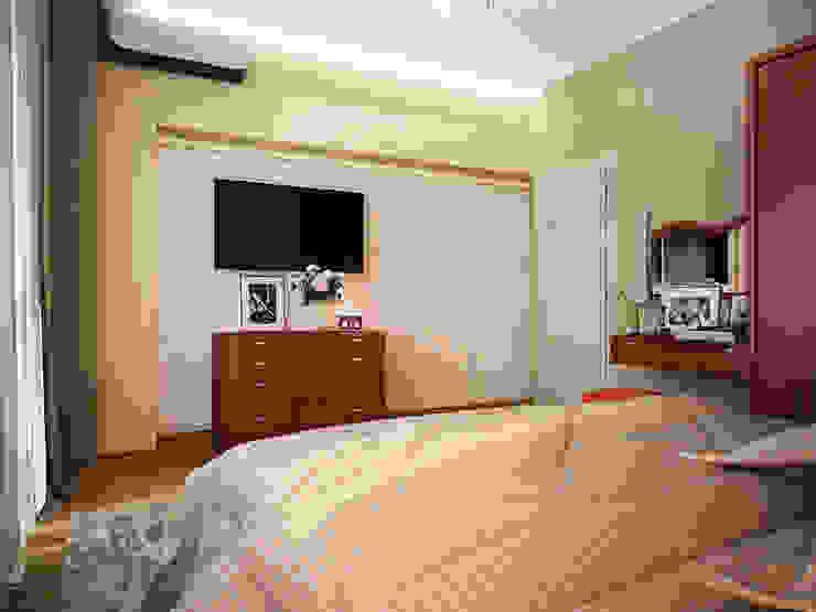 Проект 3х комнатной квартиры в Харькове Спальня в стиле модерн от Инна Михайская Модерн