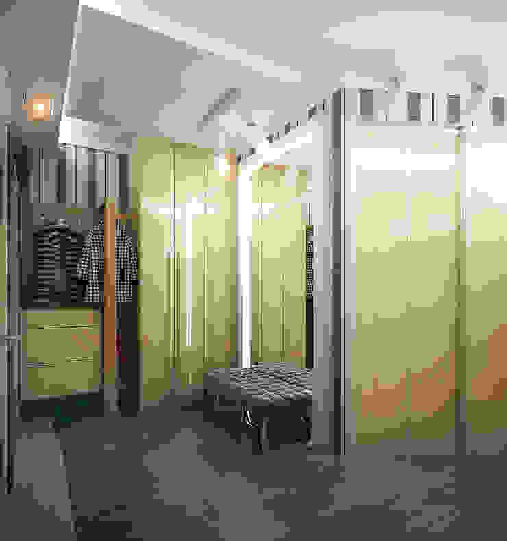 Проект 3х комнатной квартиры в Харькове Коридор, прихожая и лестница в модерн стиле от Инна Михайская Модерн