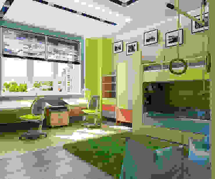 Проект 3х комнатной квартиры в Харькове Детская комната в стиле модерн от Инна Михайская Модерн