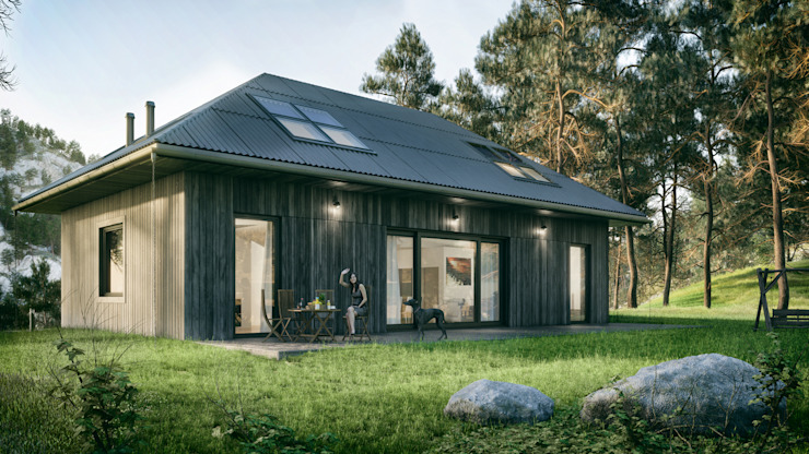 Optymalny natura #2 Nowoczesne domy od INDEA Nowoczesny