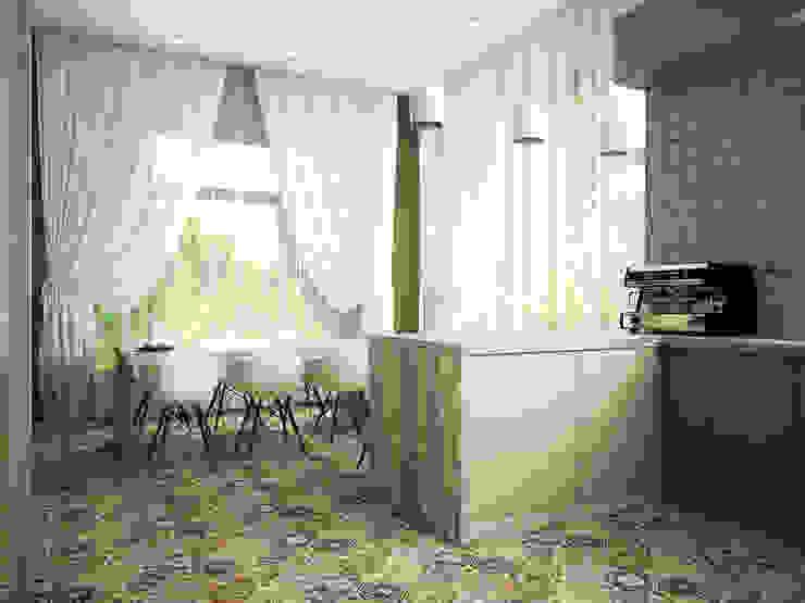 Проект шале в Белгороде Столовая комната в эклектичном стиле от Инна Михайская Эклектичный