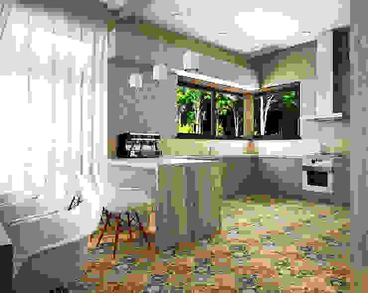 Проект шале в Белгороде Кухни в эклектичном стиле от Инна Михайская Эклектичный