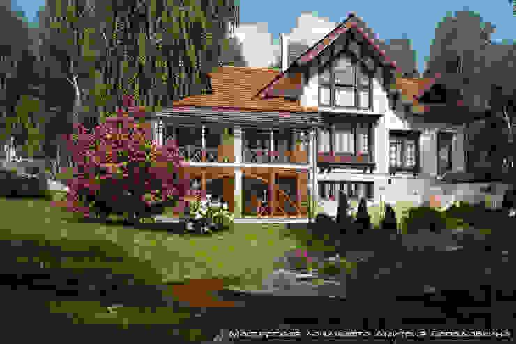 Modern home by Мастерская ландшафта Дмитрия Бородавкина Modern Wood Wood effect