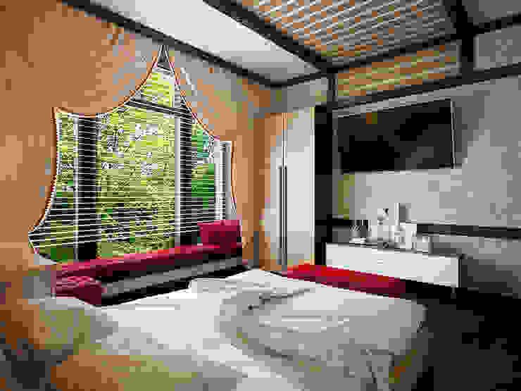 Проект шале в Белгороде Спальня в эклектичном стиле от Инна Михайская Эклектичный