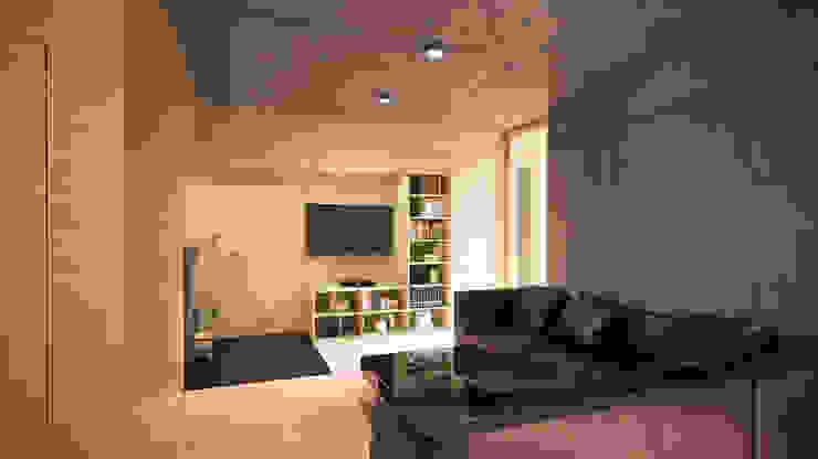 Optymalny comfort (aranżacja #2) Nowoczesny salon od INDEA Nowoczesny