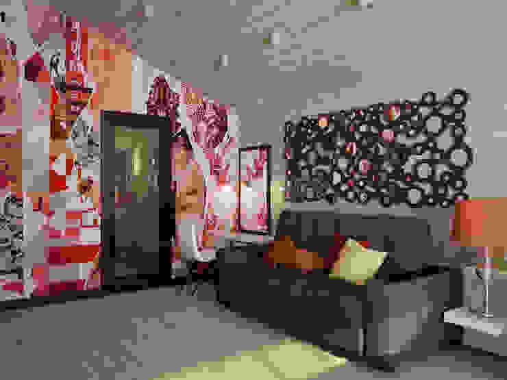 Проект шале в Белгороде Рабочий кабинет в эклектичном стиле от Инна Михайская Эклектичный