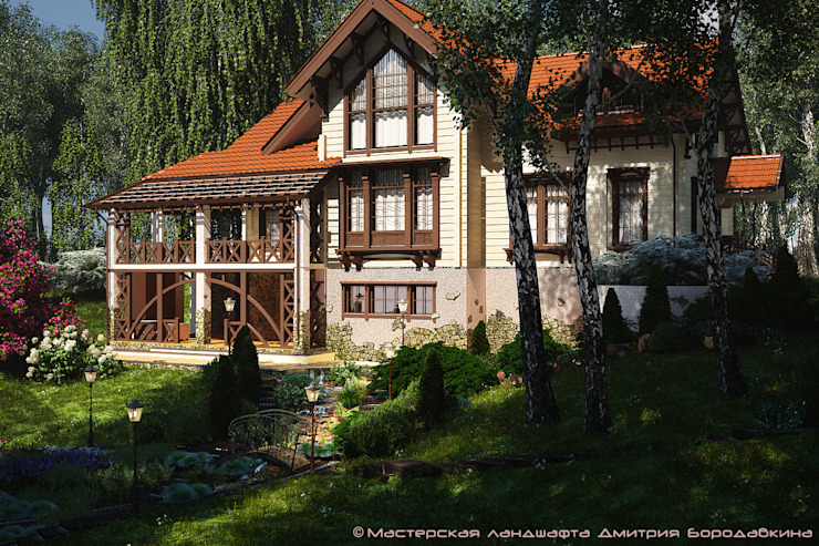 Безмятежное Дома в стиле модерн от Мастерская ландшафта Дмитрия Бородавкина Модерн