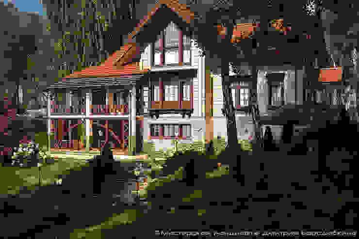 Безмятежное: Дома в . Автор – Мастерская ландшафта Дмитрия Бородавкина, Модерн