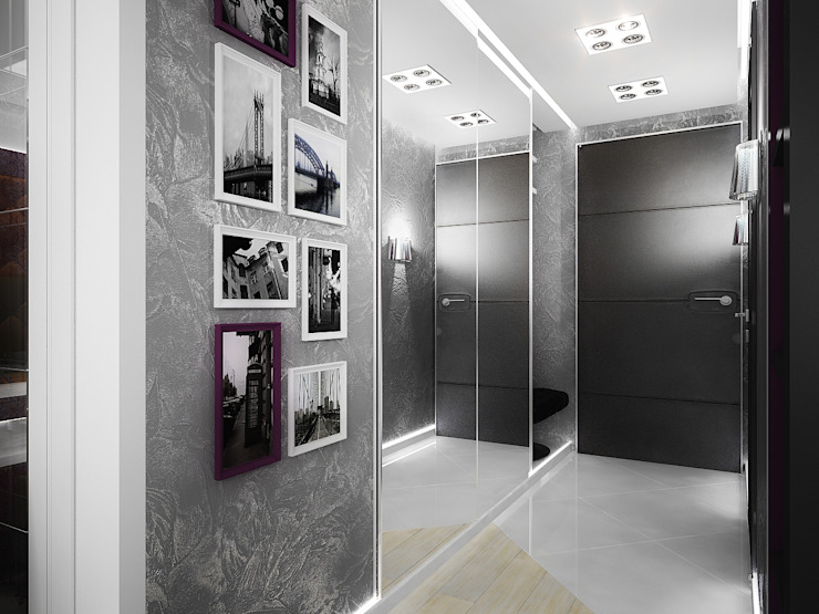 Проект квартиры-студии в Москве Коридор, прихожая и лестница в модерн стиле от Инна Михайская Модерн