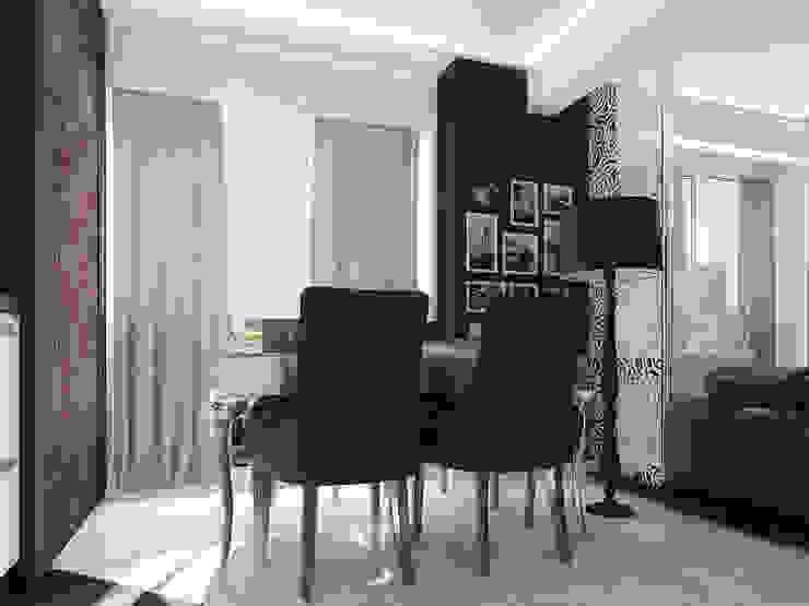 Проект квартиры-студии в Москве Столовая комната в стиле модерн от Инна Михайская Модерн