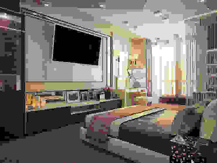 Camera da letto moderna di Инна Михайская Moderno