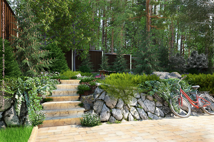 Country style garden by Мастерская ландшафта Дмитрия Бородавкина Country