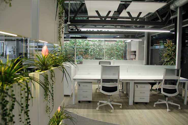 Edificios de Oficinas de estilo  por Quark arquitectos  , Industrial