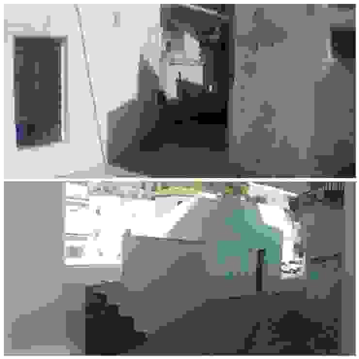 Callejón: Antes y después. Casas modernas: Ideas, imágenes y decoración de Coronástudios Moderno