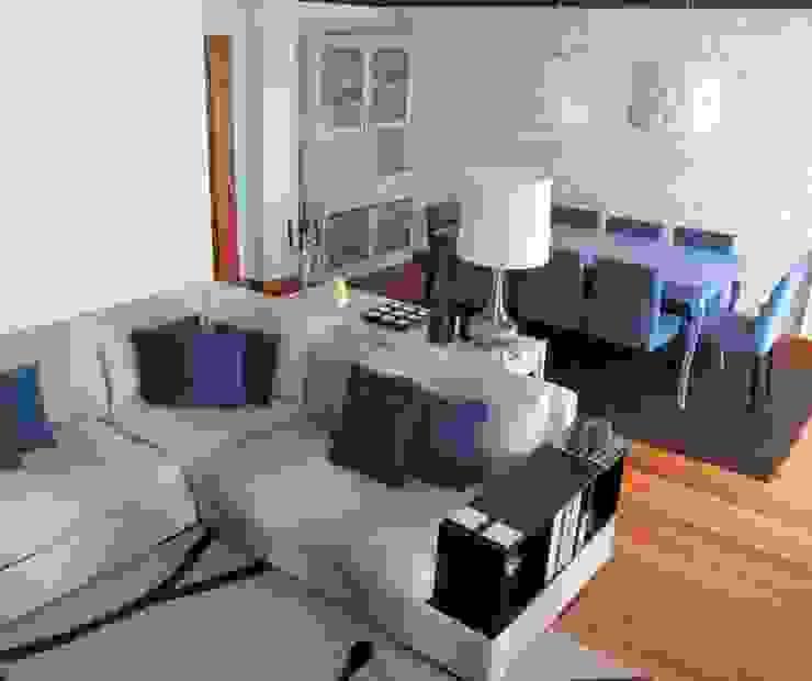 SALA Salas de estar modernas por MARIA ILHARCO DE MOURA ARQUITETURA DE INTERIORES E DECORAÇÃO Moderno