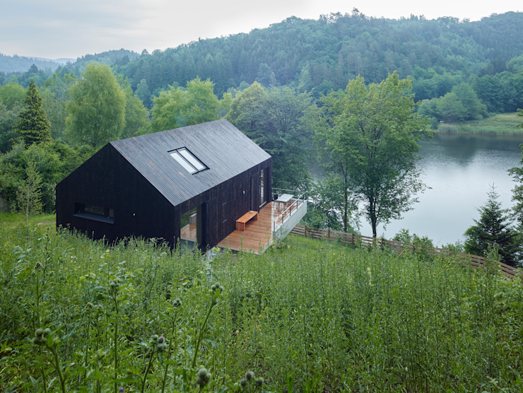 Backraum Architektur Modern Houses Wood Black