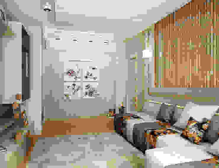 Проект 2х комнатной квартиры Гостиная в стиле модерн от Инна Михайская Модерн
