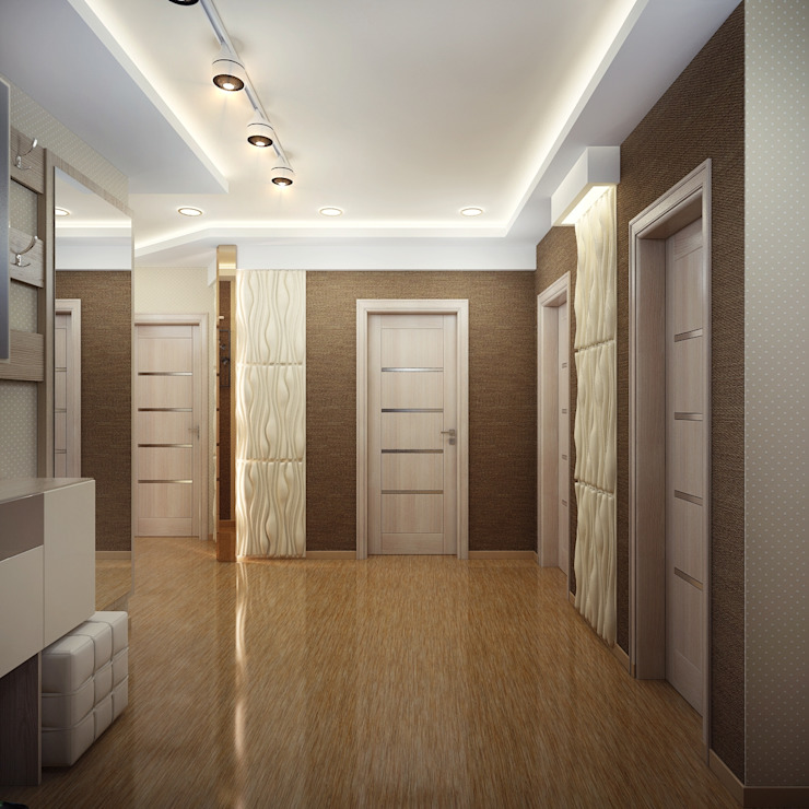 Проект 2х комнатной квартиры Коридор, прихожая и лестница в модерн стиле от Инна Михайская Модерн
