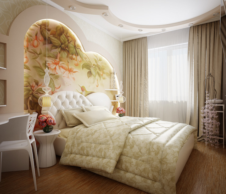 Проект 2х комнатной квартиры Спальня в стиле модерн от Инна Михайская Модерн
