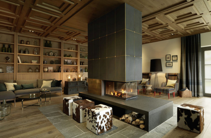 Living room by BAUWERK PARQUET