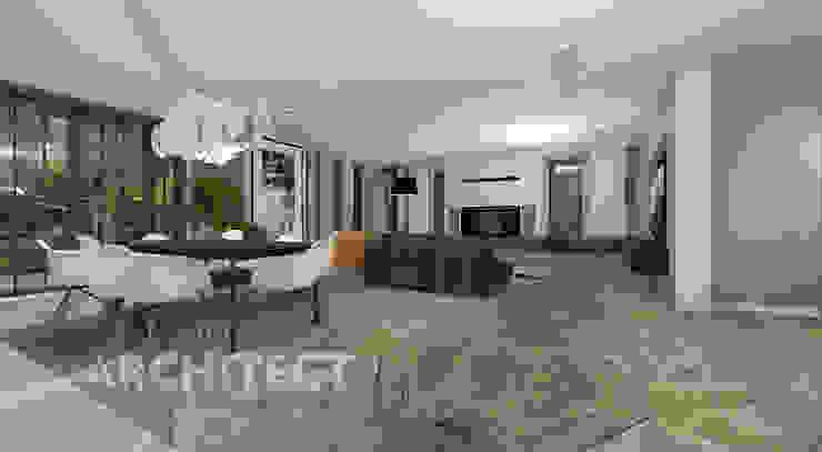 projekt salonu Nowoczesny salon od THE ARCHITECT DESIGN Nowoczesny