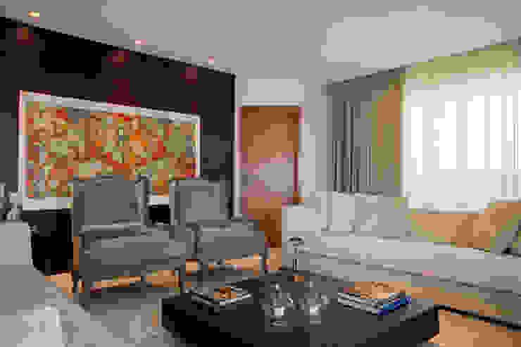 Sala de estar Arquitetura 8 - Ana Spagnuolo & Marcos Ribeiro Salas de estar modernas