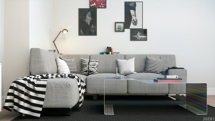 Salas de estar modernas por JIGEN Moderno