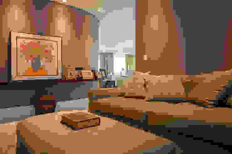 Sala de TV - Home Theater Salas multimídia modernas por Arquitetura 8 - Ana Spagnuolo & Marcos Ribeiro Moderno