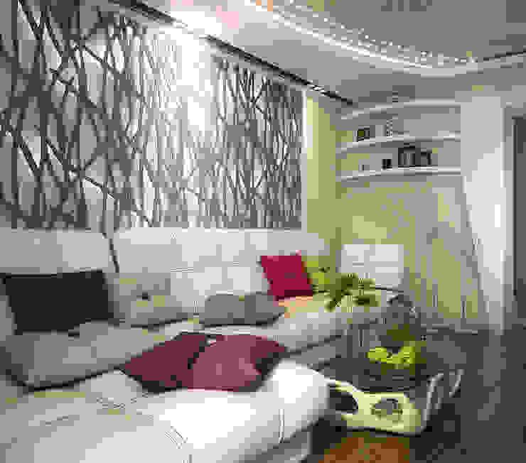 Проект 4х комнатной квартиры Гостиная в стиле модерн от Инна Михайская Модерн