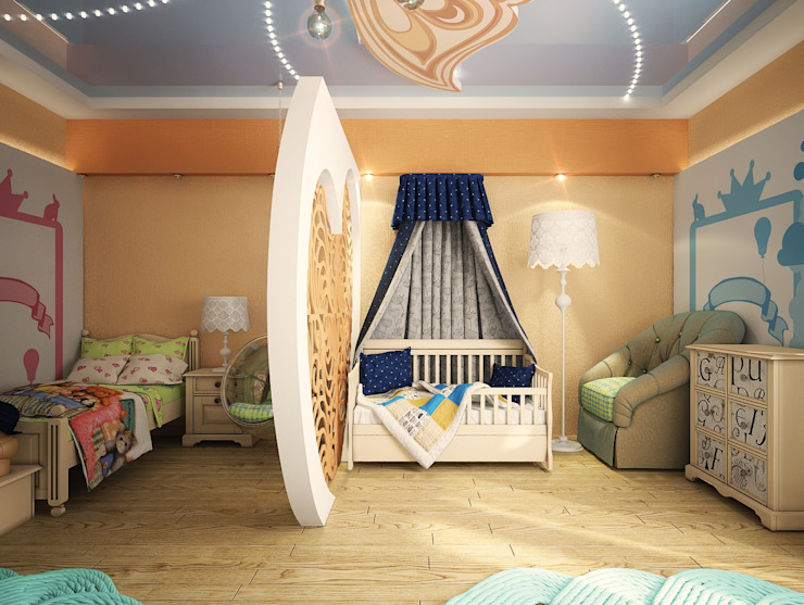 Проект 4х комнатной квартиры Детская комната в стиле модерн от Инна Михайская Модерн