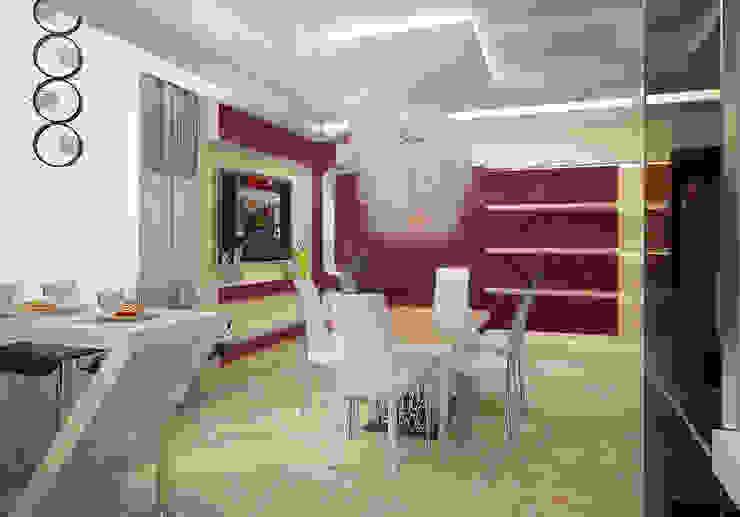 Проект 4х комнатной квартиры Столовая комната в стиле модерн от Инна Михайская Модерн