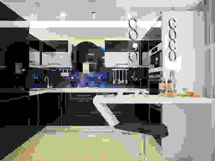 Проект 4х комнатной квартиры Кухня в стиле модерн от Инна Михайская Модерн