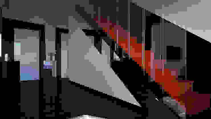 Pasillos, vestíbulos y escaleras de estilo minimalista de SVPREMVS Minimalista